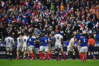 Rugby Union - 2020 Guinness Six Nations Championship - France vs. England<br /> <br /> Tempers flare as Frances's Charles Ollivon scores his sides third try, at The Stade de France, Paris.<br /> <br /> COLORSPORT/ASHLEY WESTERN