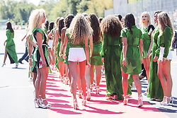 September 3, 2017 - Monza, Italy - Motorsports: FIA Formula One World Championship 2017, Grand Prix of Italy, .grid girls  (Credit Image: © Hoch Zwei via ZUMA Wire)