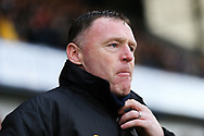Mansfield Town Manager Graham Coughlan during the EFL Sky Bet League 2 match between Mansfield Town and Grimsby Town FC at the One Call Stadium, Mansfield, England on 4 January 2020.