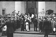 State Funeral Of Mrs Thomas Clarke..1972..08.10.1972..10.08.1972..8th October 1972..Today the state funeral of Mrs Kathleen Clarke took place at the Pro Cathedral,Dublin. Mrs Clarke was the wife of the late Thomas Clarke who was executed in Kilmainham Jail in 1916. Thomas Clarke was a signatory of the Irish Proclamation of 1916...Picture of the funeral procession as it leavesfrom the steps of the Pro Cathedral,Marlborough Street,Dublin.