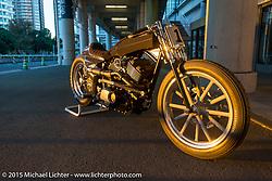 Harley-Davidson Street 750 Build Off  bike by Yoshikazu Ueda and Yuichi Yoshizawa of Custom Works Zon in Shiga Prefecture, Japan at Mooneyes Yokohama Hot Rod & Custom Show. Yokohama, Japan. December 5, 2015.  Photography ©2015 Michael Lichter.