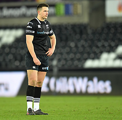 Ospreys' Owen Watkin<br /> <br /> Photographer Mike Jones/Replay Images<br /> <br /> Guinness PRO14 Round Round 16 - Ospreys v Cheetahs - Saturday 24th February 2018 - Liberty Stadium - Swansea<br /> <br /> World Copyright © Replay Images . All rights reserved. info@replayimages.co.uk - http://replayimages.co.uk