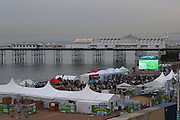 Popular Beach Front Football is back Brighton Big Screen Events match, Madeira Drive, Brighton showing the Euro 2016 between France and Romania at Stade de France, Paris, France on 10 June 2016. Photo by Stuart Butcher.