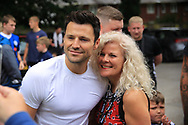 Mark Wright Towie - The Only Way is Essex during the Joe Thompson's Allstars v Joe Thompson's Celebrity 11 in Rochdale at the Crown Oil Arena, Rochdale, England on 21 July 2019.