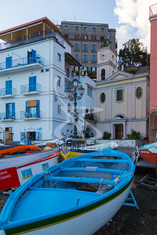 Sorrento, Italy, September 15 2017. Boats in Marina Grande in Sorrento, Italy. © Paul Davey