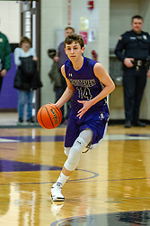 21 January 2019:1st round game of the 108th McLean County Tournament at El Paso - Gridley High School in El Paso Illinois.  Lexington Minutemen v Fieldcrest Knights boys