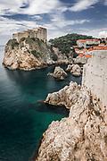 Lovrijenac Fortress above the blue Adriatic, old town Dubrovnik, Dalmatian Coast, Croatia