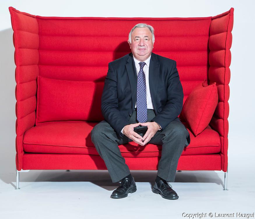 11102016. Paris. Portrait de Gérard Larcher, président du Sénat.