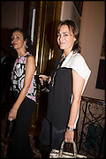 YASMIN LE BON, James Franco talk and supper at Mansfield St. hosted by Maja Hoffmann. London. 23 November 2014