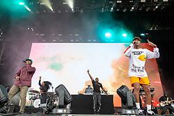 August 10, 2018 - San Francisco, California, U.S - CHAD HUGO of N.E.R.D. during Outside Lands Music Festival at Golden Gate Park in San Francisco, California (Credit Image: © Daniel DeSlover via ZUMA Wire)