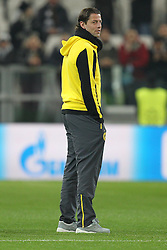 24.02.2015, Veltins Arena, Turin, ITA, UEFA CL, Juventus Turin vs Borussia Dortmund, Achtelfinale, Hinspiel, im Bild Roman Weidenfeller #1 (Borussia Dortmund) auf dem Rasen // during the UEFA Champions League Round of 16, 1st Leg match between between Juventus Turin and Borussia Dortmund at the Veltins Arena in Turin, Italy on 2015/02/24. EXPA Pictures © 2015, PhotoCredit: EXPA/ Eibner-Pressefoto/ Kolbert<br /> <br /> *****ATTENTION - OUT of GER*****