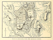 Plan of Jerusalem from the Ordnance Survey From the book 'Those holy fields : Palestine, illustrated by pen and pencil' by Manning, Samuel, 1822-1881; Religious Tract Society (Great Britain) Published in 1874