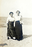 two woman on the beach early 1900s