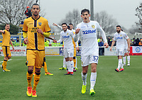 Football - 2016 / 2017 FA Cup - Fourth Round: Sutton United vs. Leeds United<br /> <br /> Craig Eastmond of Sutton and Billy Whitehead of Leeds at Gander Green Lane.<br /> <br /> COLORSPORT/ANDREW COWIE