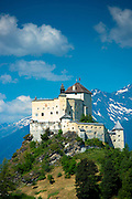 Tarasp Castle in the Lower Engadine Valley, Switzerland