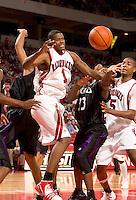 Arkansas Razorback basketball player Michael Jones during a 90 to 56 win over the Abilene Christian Wildcats on November 12, 2004 at Bud Walton Arena in Fayetteville, Arkansas.