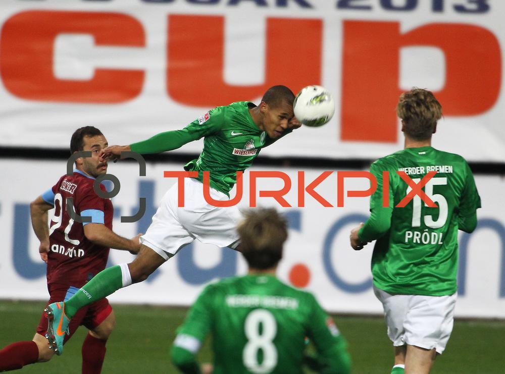 Werder Bremen's Theodor Gebre Selassie (C) during their Tuttur.com Cup matchday 2 soccer match Trabzonspor between  Werder Bremen at Mardan stadium in AntalyaTurkey on 07 Monday January, 2013. Photo by Aykut AKICI/TURKPIX