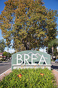 Brea Neighborhood Sign