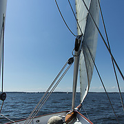 Sailing in the Chesapeake Bay off historic Annapolis, MD.