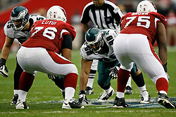 18 Jan 2009: Philadelphia Eagles defensive tackle Mike Patterson #98 during the NFC Championship game against the Arizona Cardinals on January 18th, 2009. The Cardinals won 32-25 at University of Phoenix Stadium in Glendale, Arizona. (Photo by Brian Garfinkel)