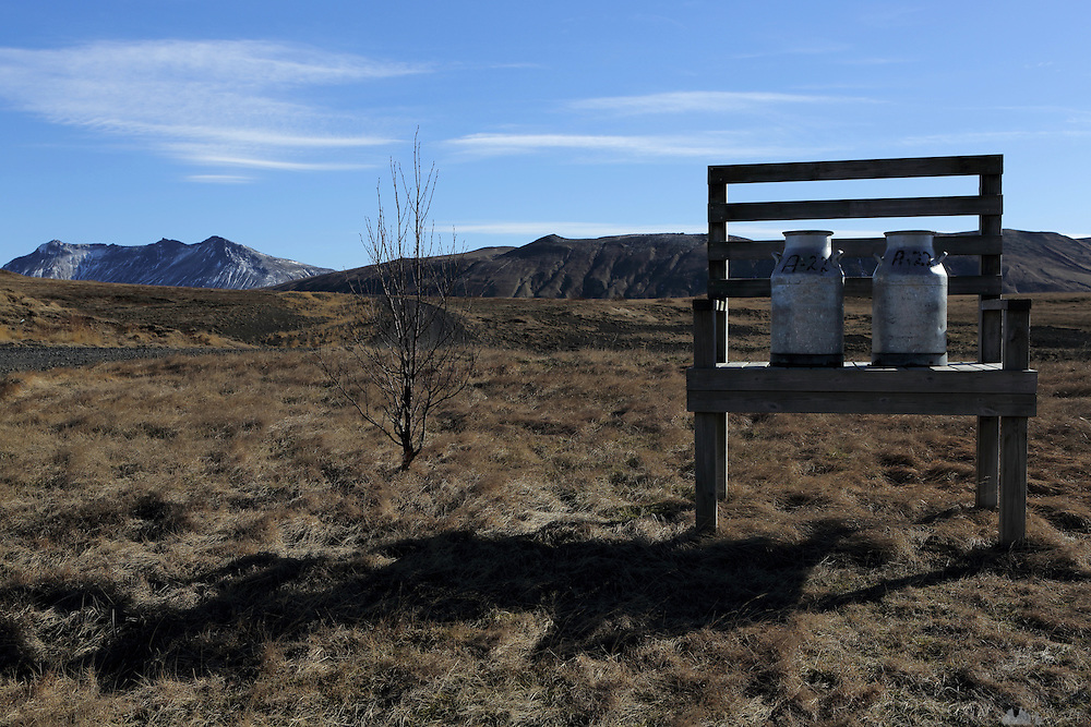 Milk Containers along the Rangarvallavegur road in Southern Iceland
