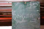 chalk board domaine du vieux lazaret chateauneuf du pape rhone france