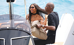 Naomi Campbell leaving the Hotel du Cap by boat. 22 May 2017 Pictured: Naomi Campbell. Photo credit: Ale / MEGA TheMegaAgency.com +1 888 505 6342