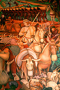 MEXICO, MEXICO CITY, MURALS European livestock into New World
