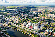 Nederland, Amsterdam, Amsterdam-West, 27-09-2015. Zicht op Overtoomseveld en Slotervaart. Westlandgracht. Ring A10-West (Einsteinweg). World Fashion Centre, WFC.<br /> Overview New West, west of ring road A10 Ring West (Einsteinweg),  <br /> luchtfoto (toeslag op standard tarieven);<br /> aerial photo (additional fee required);<br /> copyright foto/photo Siebe Swart