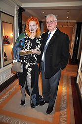 DAME VIVIENNE WESTWOOD and her brother GORDON SWIRE at the 3rd Fortune Forum Summit held at The Dorchester Hotel, Park Lane, London on 3rd March 2009.