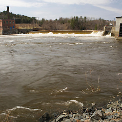 The Rygate Dam at Dodge Falls on the Connecticut River in Bath, New Hampshire.