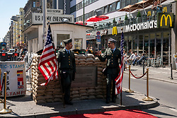 18-05-2019 GER: Berlin is the capital and largest city of Germany, Berlin<br /> <br /> In the time of divided Berlin, Checkpoint Charlie was a checkpoint on the border of the American and Russian sectors, at a passage of the Berlin Wall on Friedrichstraße.