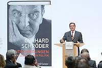 """26 OCT 2006, BERLIN/GERMANY:<br /> Gerhard Schroeder, SPD, Bundeskanzler a.D., waehrend einer Pressekonferenz zur Vorstellung seines Buches """"Entscheidungen. Mein Leben in der Politik"""", Willy-Brandt-Haus<br /> IMAGE: 20061026-01-037<br /> KEYWORDS: Gerhard Schröder, Autobiografie, Biografie, Buch"""