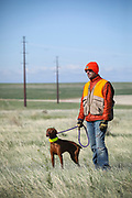 SHOT 5/9/20 8:50:21 AM - Various pointing breeds compete in the Vizsla Club of Colorado Licensed Hunt Test Premium at the Rocky Mountain Sporting Dog Club Grounds in Keenesburg, Co. (Photo by Marc Piscotty / © 2020)
