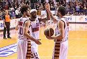 DESCRIZIONE : Venezia campionato serie A 2013/14 Reyer Venezia EA7 Olimpia Milano <br /> GIOCATORE : Luca Vitali Donell Taylor Guido Rosselli<br /> CATEGORIA : esultanza<br /> SQUADRA : Reyer Venezia<br /> EVENTO : Campionato serie A 2013/14<br /> GARA : Reyer Venezia EA7 Olimpia<br /> DATA : 28/11/2013<br /> SPORT : Pallacanestro <br /> AUTORE : Agenzia Ciamillo-Castoria/A.Scaroni<br /> Galleria : Lega Basket A 2013-2014  <br /> Fotonotizia : Venezia campionato serie A 2013/14 Reyer Venezia EA7 Olimpia  <br /> Predefinita :