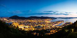 Panoramic of Bergen shot from Fløyen, Bergen, Norway. 19/05/14. Photo by Andrew Tallon