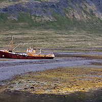 While we were driving to the Westfjords, we decided to stop near Garðar BA64. Garðar BA64 was built in Norway 1912. Bad weather drove the ship ashore at Patreksfjörður in 1981.