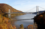 Fort Montgomery, NY - A view of the Bear Mountain Bridge and the Hudson River on Nov. 2, 2008.