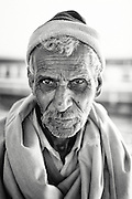 Portrait of an elderly man at Jodphur Railway Station