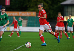 CARDIFF, WALES - Friday, August 19, 2016: Wales' Melissa Fletcher in action against Republic of Ireland during an international friendly match at Rodney Parade. (Pic by Laura Malkin/Propaganda)