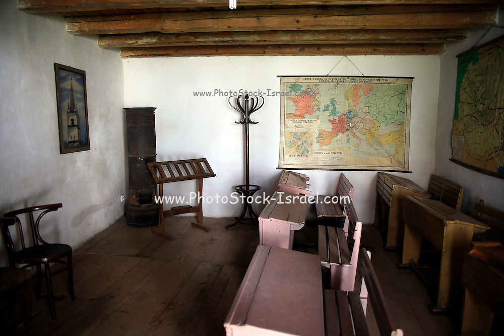 Neamt County, Romania Interior of a classroom