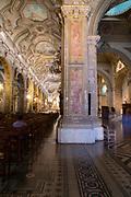 Interior view of the Catedral Metropolitano de Santiago/Metropolitan Cathedral of Santiago Plaza de Armas, Santiago, Chile.