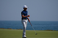 Maverick Antcliff (AUS) on the 9th during Round 3 of the Oman Open 2020 at the Al Mouj Golf Club, Muscat, Oman . 29/02/2020<br /> Picture: Golffile | Thos Caffrey<br /> <br /> <br /> All photo usage must carry mandatory copyright credit (© Golffile | Thos Caffrey)