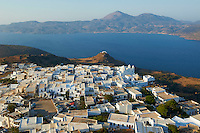 Europe, Grece, Mer Egée, Cyclades, île de Milos, vieux village Plaka, Eglise Korfiatissa // Korfiatissa church, Plaka, old village, Milos Island, Cyclades Islands, Greek Islands, Aegean Sea, Greece, Europe
