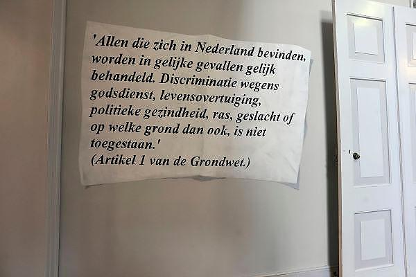 Nederland, Zutpen, 2-8-2011In de politieacademie hangt artikel 1 van de grondwet.Foto: Flip Franssen/Hollandse Hoogte