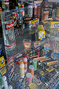 Sweets and confectionery in the window of a shop in Hradcany district, on 19th March, 2018, in Prague, the Czech Republic.