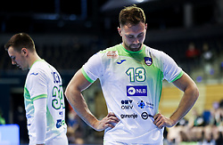 Darko Cingesar of Slovenia during handball match between National Teams of Germany and Slovenia at Day 2 of IHF Men's Tokyo Olympic  Qualification tournament, on March 13, 2021 in Max-Schmeling-Halle, Berlin, Germany. Photo by Vid Ponikvar / Sportida
