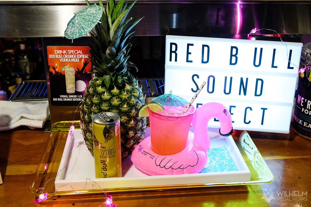 The drink special at Red Bull Sound Select Presents Denver at the Bluebird Theater in Denver, CO, USA, on 29 April, 2017.