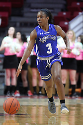 NORMAL, IL - February 10: Ashli O'Neal during a college women's basketball Play4Kay game between the ISU Redbirds and the Indiana State Sycamores on February 10 2019 at Redbird Arena in Normal, IL. (Photo by Alan Look)