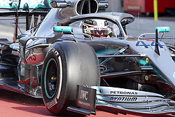 February 18, 2019 - Barcelona, Catalonia, Spain - Lewis Hamilton (Mercedes AMG Petronas Motosport) during the winter test days at the Circuit de Catalunya in Montmelo (Catalonia), February 18, 2019. (Credit Image: © Fernado Pidal/NurPhoto via ZUMA Press)